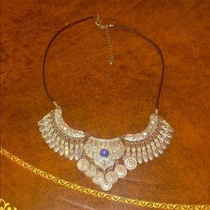 Bohemian fashion silver necklace